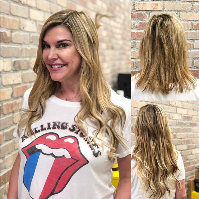 Added some length with individual I-tip extensions! This babe is ready for summer!! 🌞#longhairdontcare #hushhushbangbang #ocstylist
