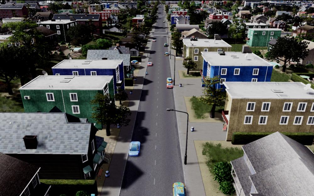 Typical street in Binghamton/Johnson City