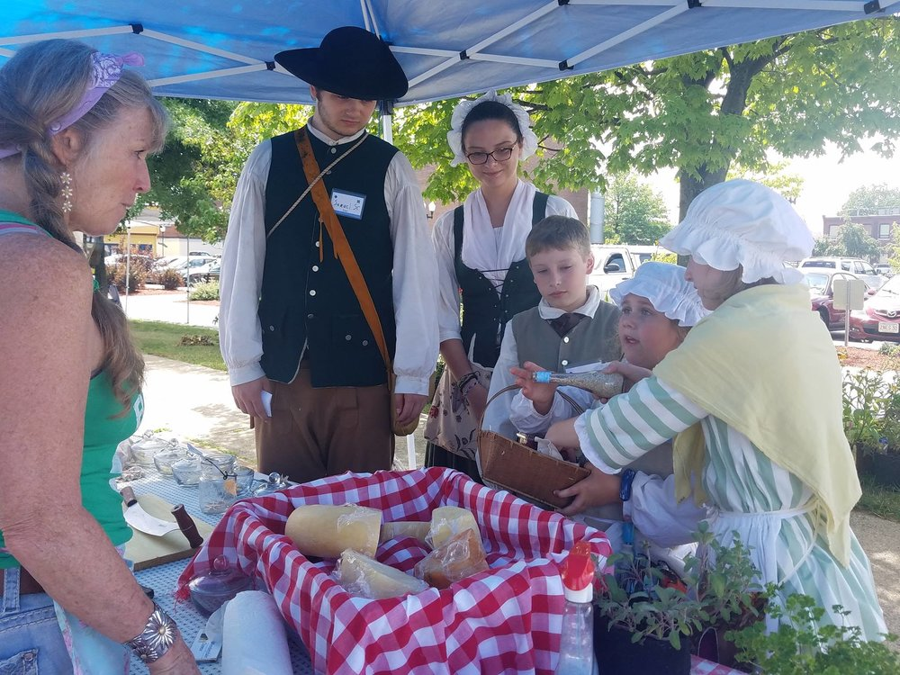 Summer campers at HSCC visit the Keene Farmer's Market