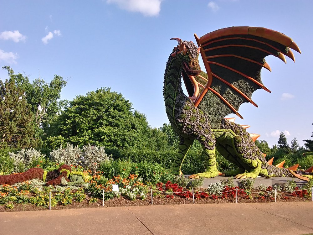 Dragon and Sleeping Maiden at the Atlanta Botanical Garden
