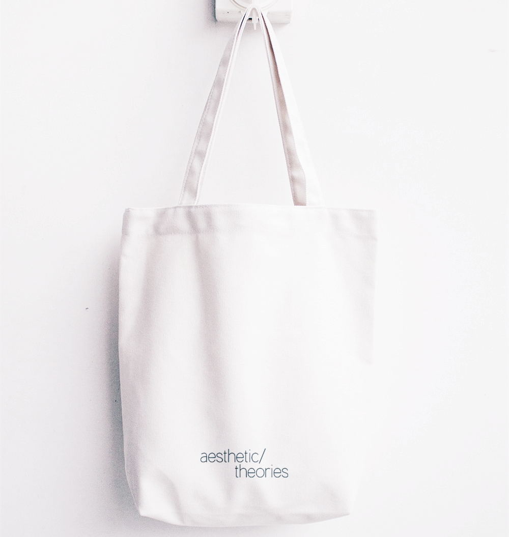aesthetic/theories tote bag