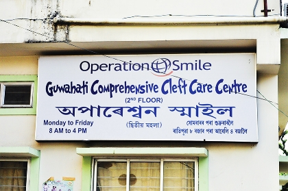 Operation Smile India Ambassador Nandana Sen's visit to the Guwahati Comprehensive Cleft Care Centre in Guwahati, Assam on July 14, 2013.