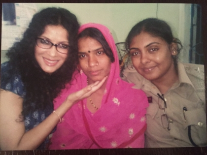 With Rahnuma (name changed) and Inspector Papiya of The Anti Human Trafficking Squad, Kolkata, India.