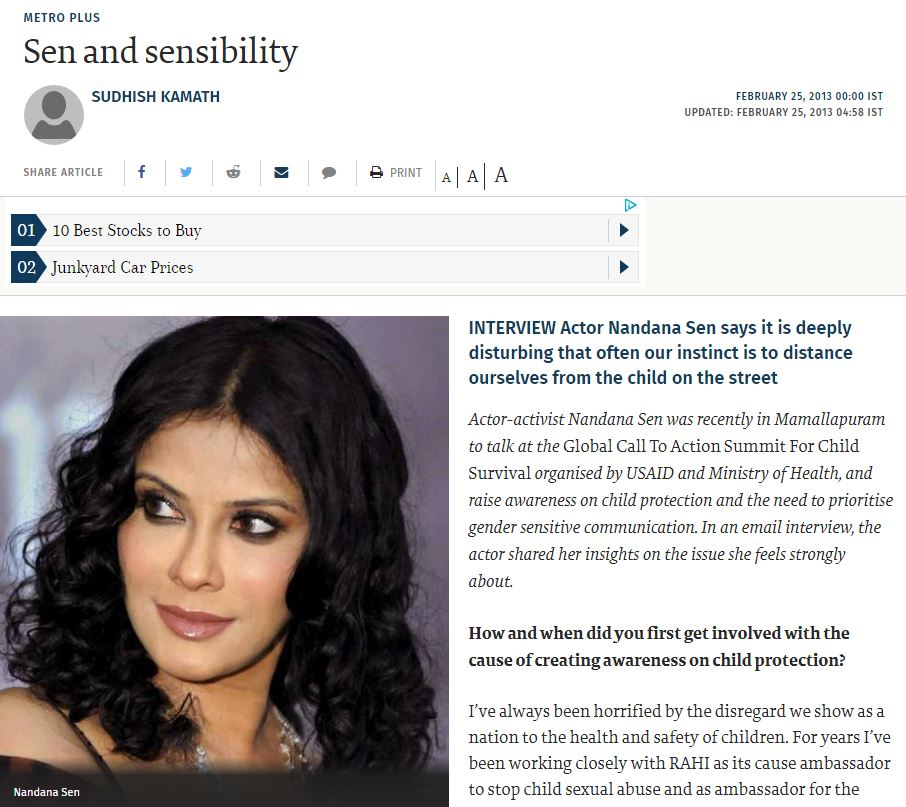 The Hindu - click here for the full article   February 25, 2013