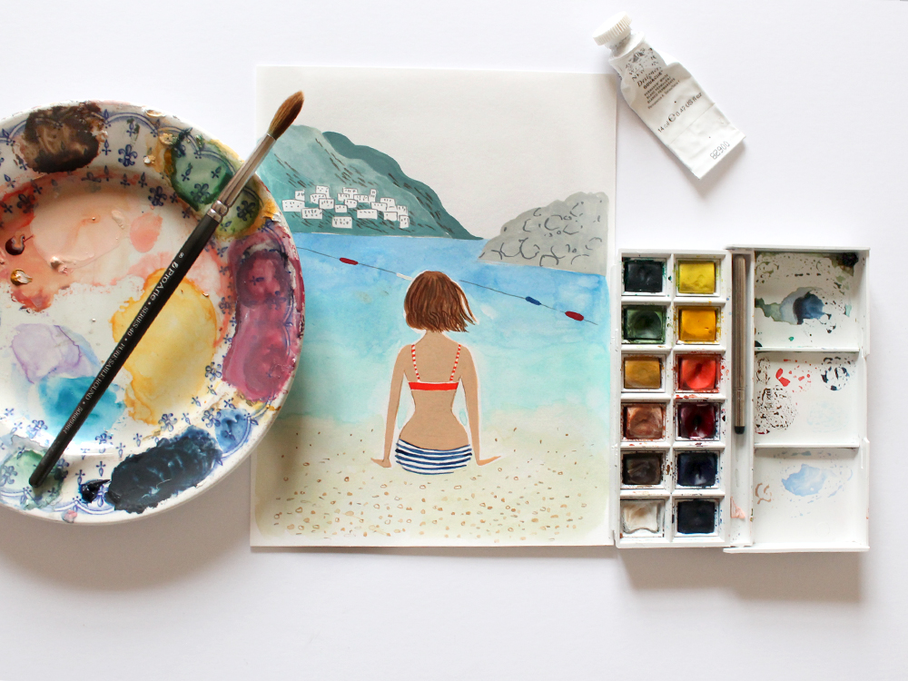 Emma Block Watercolour Competition with P&O Ferries