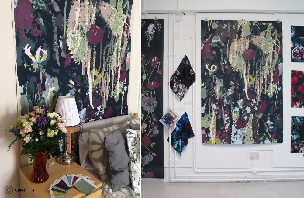 Dark Florals and Foliage project chloe hills