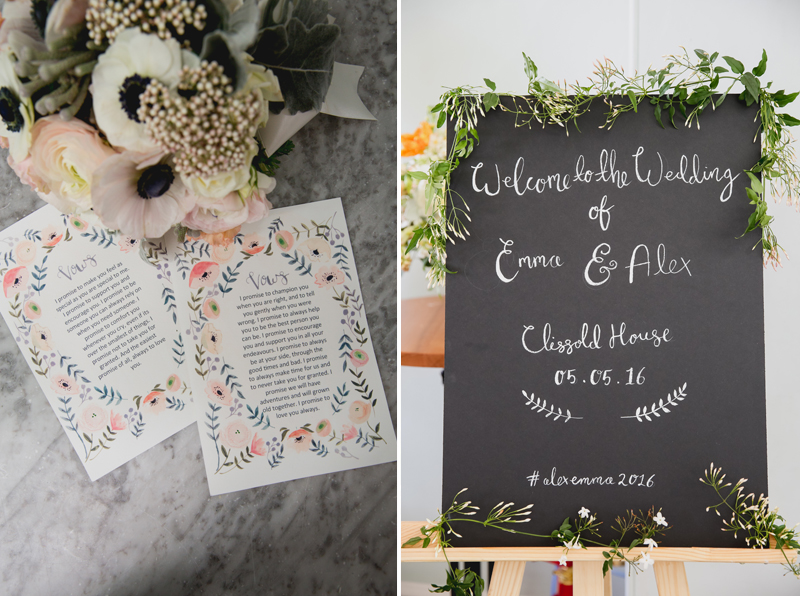 emma block wedding blog stationery