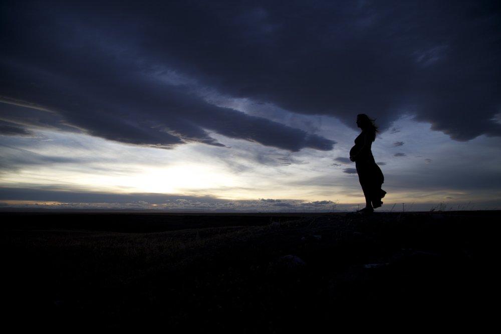 maternity photography silhouette | edmonton