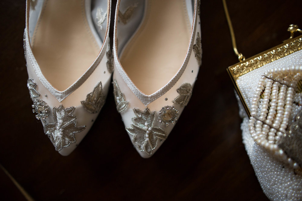 Bridal Detail shots | shoes, purse and jewellery