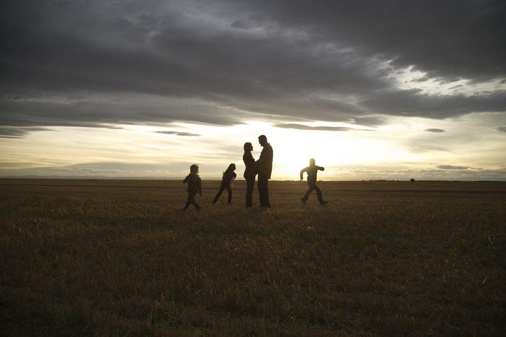 family photos sunset | southern alberta