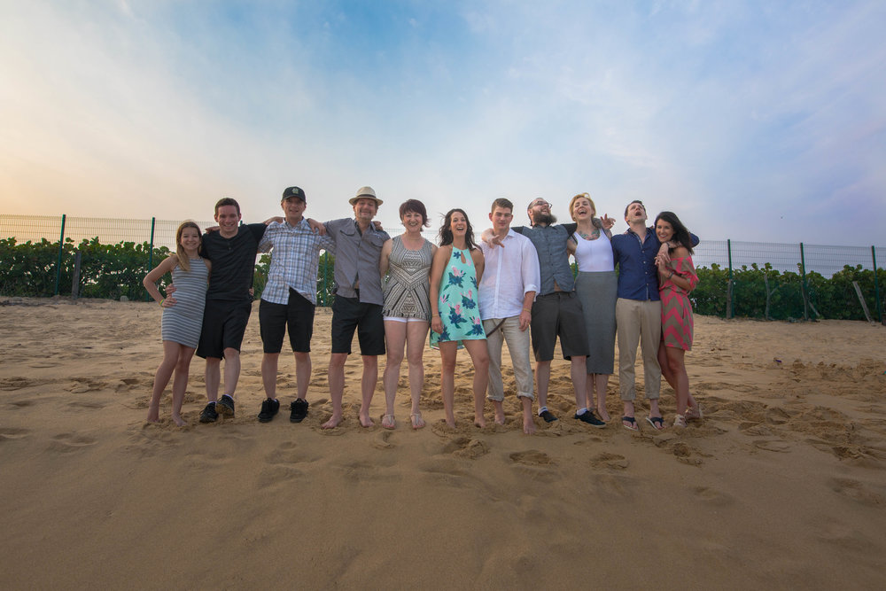 blended family photo Huatulco
