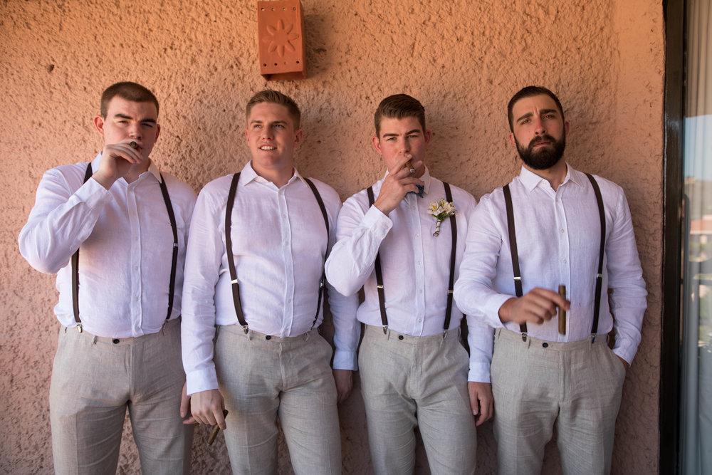 groom and grromsemen in Mexico