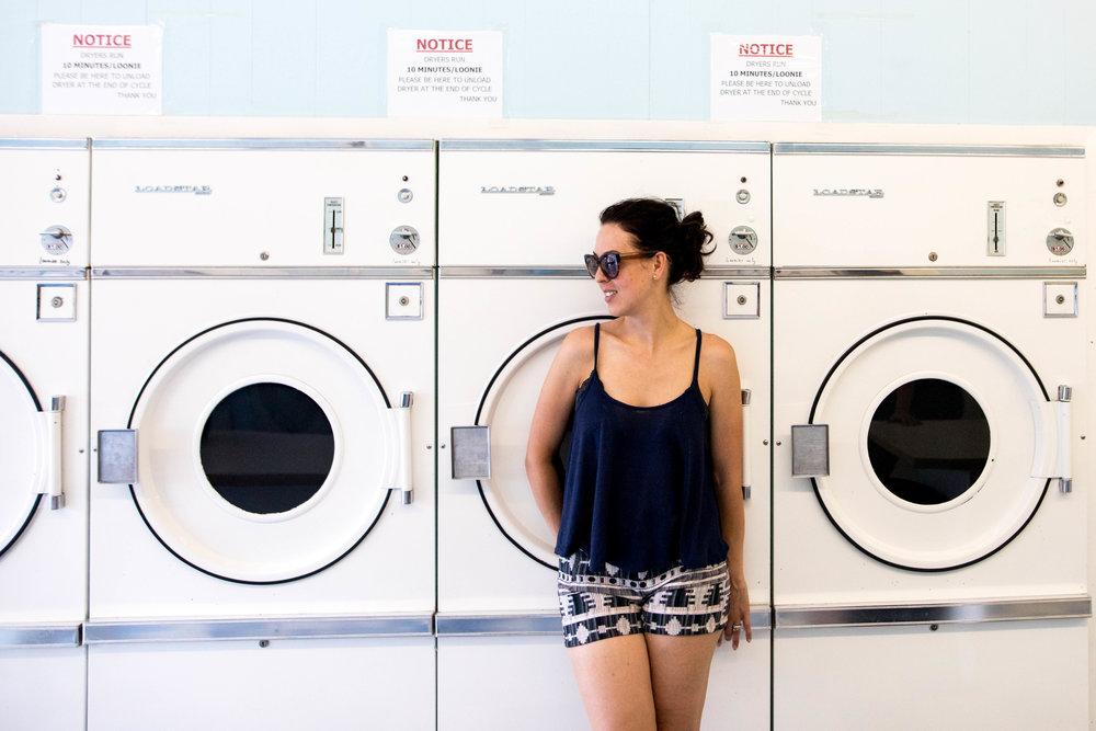 laundromat manitou beach self portrait