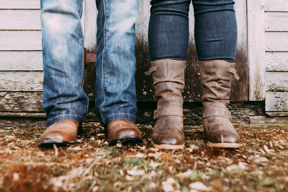 farm boots | engagement session westlock area