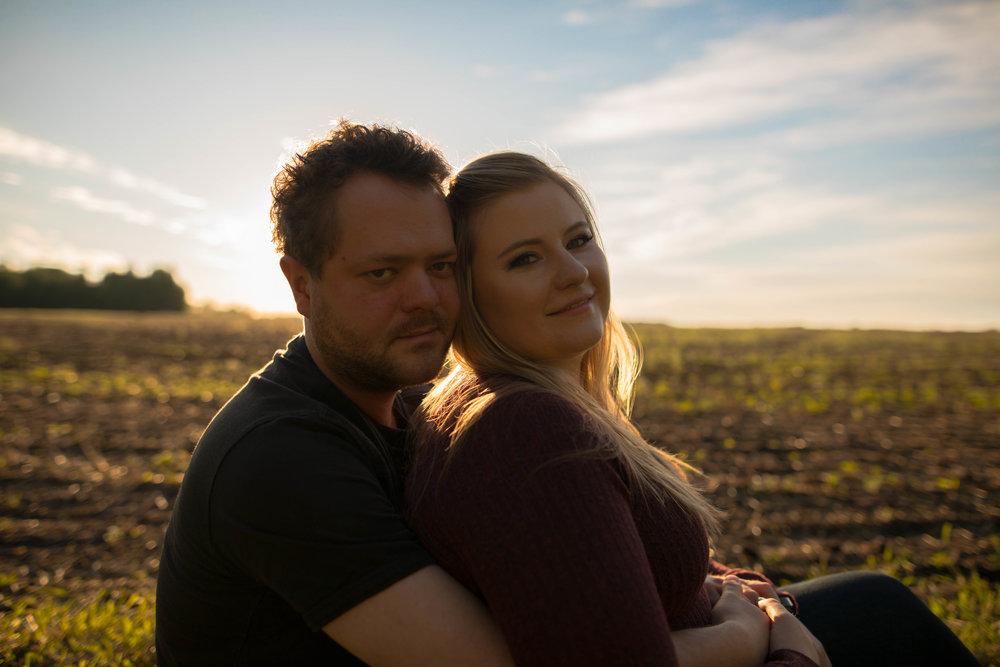 sunset engagement photos | westlock