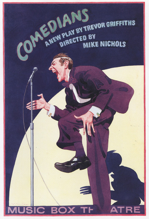 James McMullan's poster design for Music Box Theatre's 1976 production of Comedians. Courtesy of James McMullan.