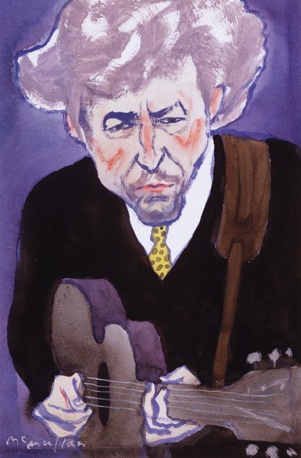 Bob Dylan. A Rolling Stone illustration by James McMullan. Courtesy of James McMullan.
