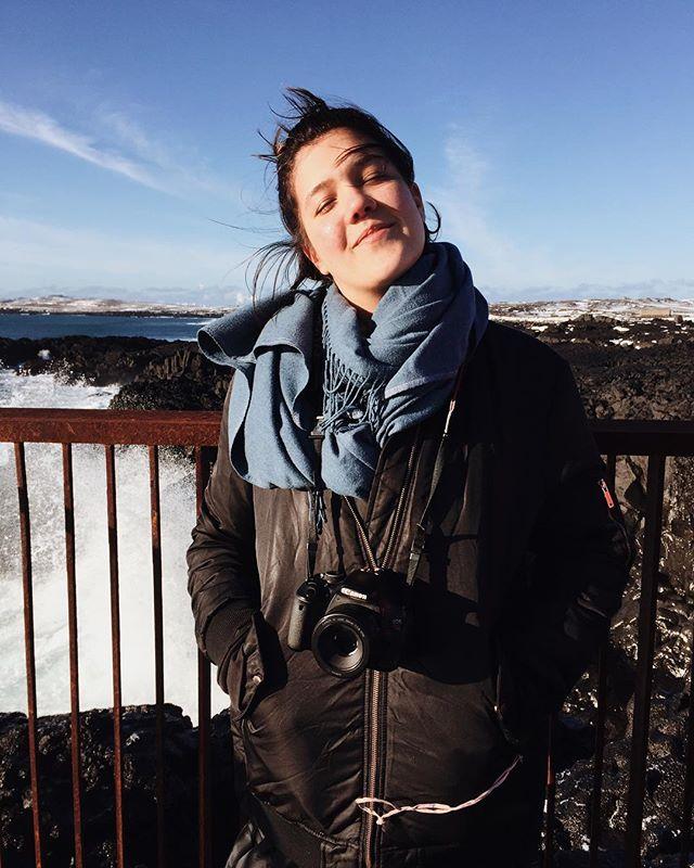 Soaking in that Icelandic sun like: ☺️ - 📸~ @downhomemaine