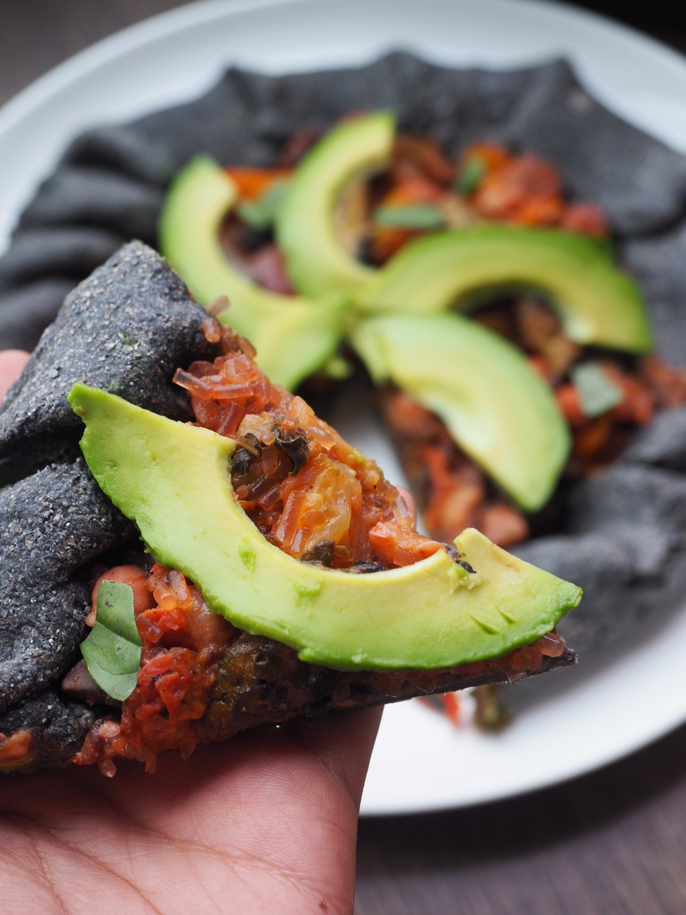 Guacamole stuffed crust pizza