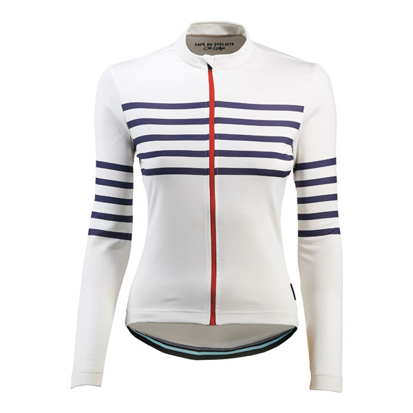 Cafe du Cycliste Claudette Jersey    Price: £149   The Claudette jersey boasts iconic stripes, plus a technical merino blend for fantastic performance and comfort across a range of conditions.