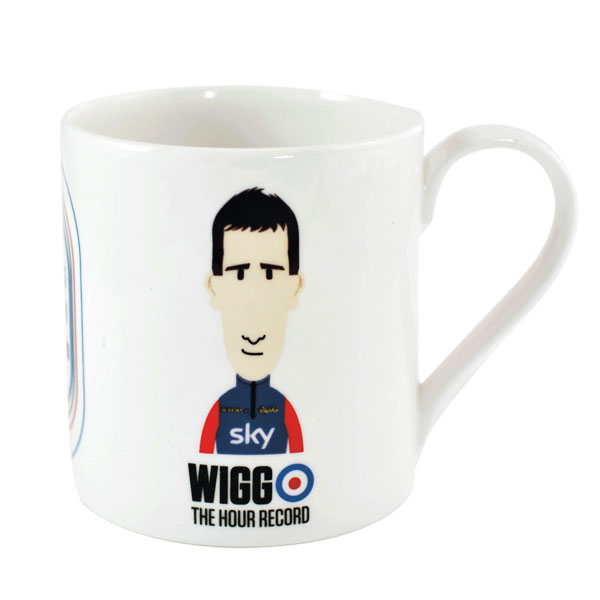 Legends Mug Wiggo Hour Record    Price: £19   With his abrasive wit, mod style and a list of accolades as long as his side burns, who doesn't want to sip from a Wiggo cup?