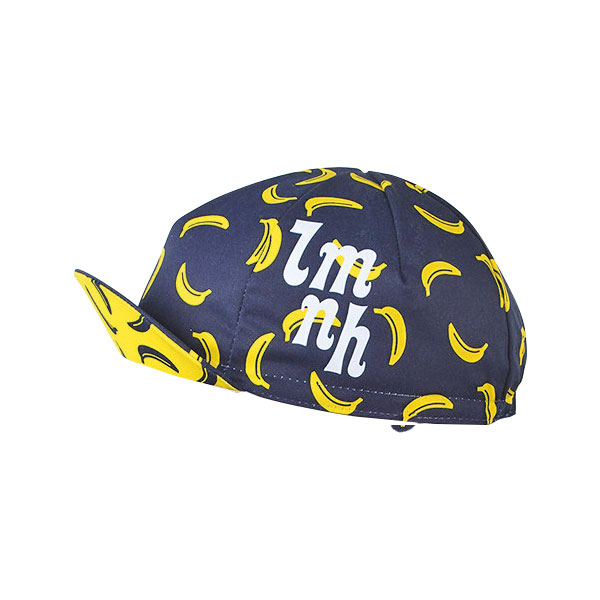 Look Mum No Hands Banana Cycling Cap    Price: £10   Get one of your five-a-day with this brilliant banana cap. Vibrant yellow against neutral navy strikes a perfect balance between chic and cheeky.