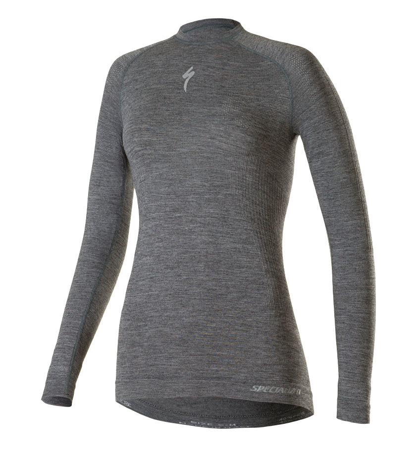 "Base layer   ""If you are wondering whether to go for a merino wool or a synthetic base layer, it's simple. The merino will keep you warmer and the synthetic will dry quicker. So, if you tend to overheat and get sweaty, I'd recommend you go for synthetic. If you're the one who never warms up, go for wool.""  Image:    Merino Long Sleeve Base Layer, £55"