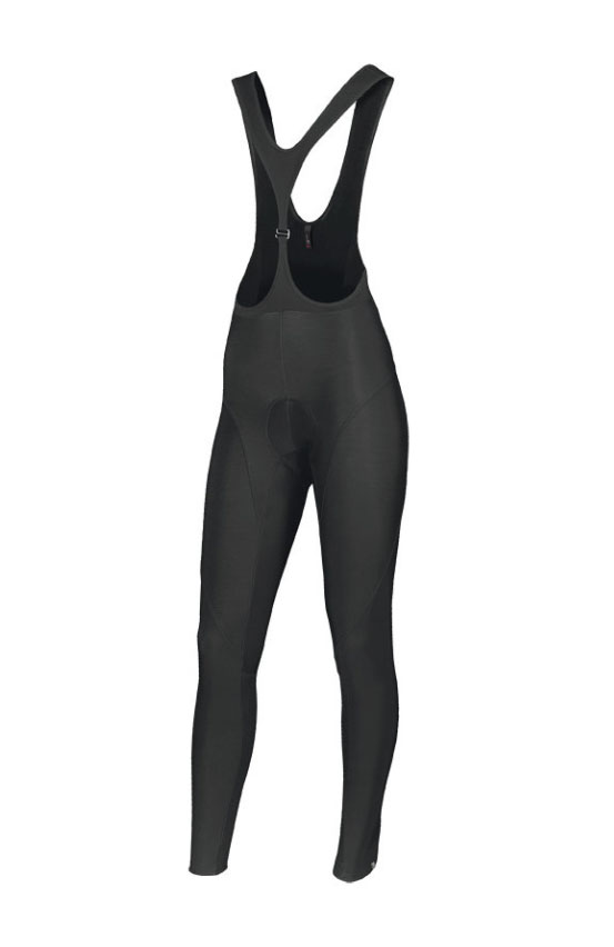 Bib tights   Full-length bib tights with a fleece lining are great for winter as the fleece keeps your warm, but you can also look out for bibs with windproof panels on the thighs, which will protect you against the wind and rain.  Image:    Therminal SL Expert Women's bib tights, £80
