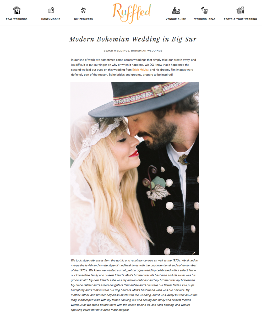 http://ruffledblog.com/modern-bohemian-wedding-in-big-sur/