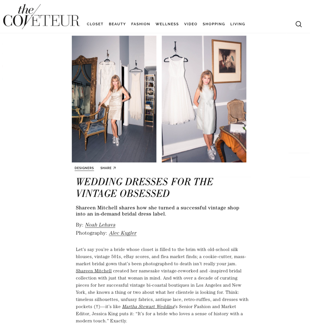 http://coveteur.com/2016/10/12/bridal-designer-shareen-mitchell-interview/