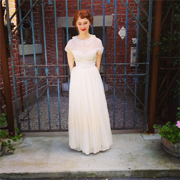 50s white vintage dress from Shareen Downtown