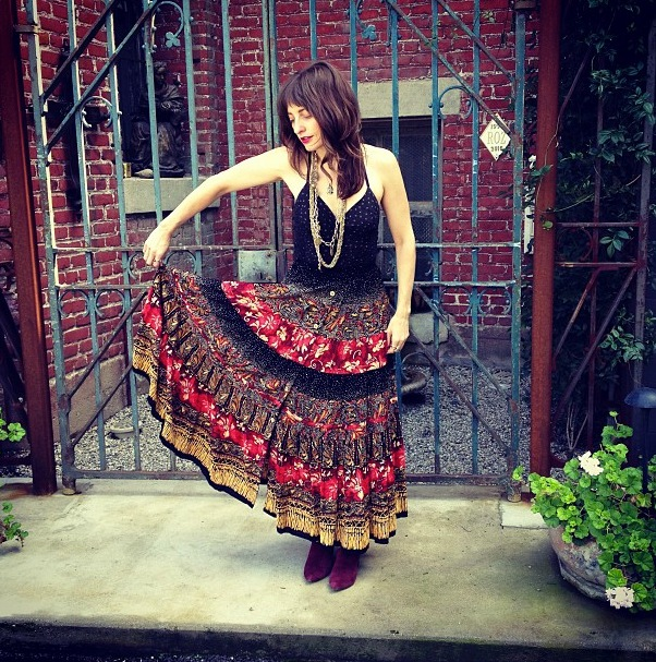 christina-black-in-a-mixed-print-vintage-skirt-from-shareen-downtown