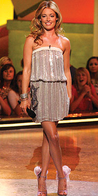 cat deeley in a vintage dress from shareen vintage