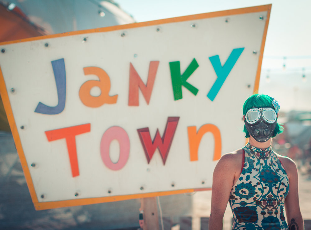 Janky Town   Jankytown started in 2007 as Cirque du Cliché, a Black Rock City theme-camp, made up of a family of folk who were dedicated to being better artists.  Live music and circus arts, Cirque became home to a number of professional as well as  brand-new and developing artists.  An ethos was born; being an artist was a conscious decision, not a magical snowflake.  It required a belief in oneself, and dedication.