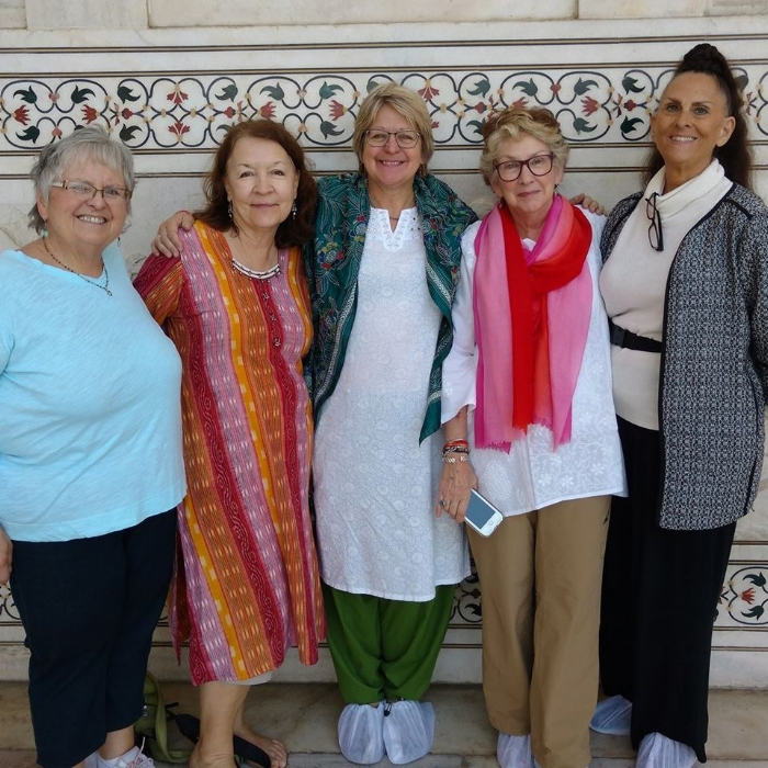 Happy Travelers at the Taj Mahal during the 2017 Romance India tour!
