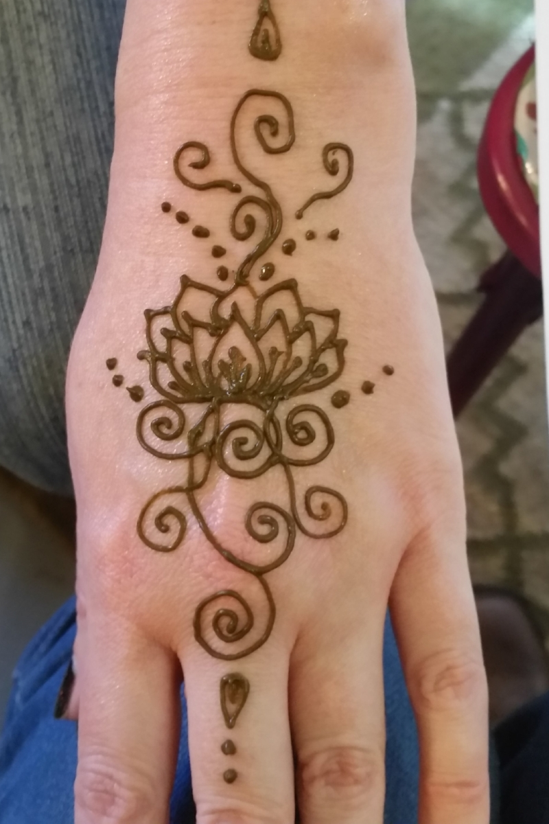 Henna, freshly applied