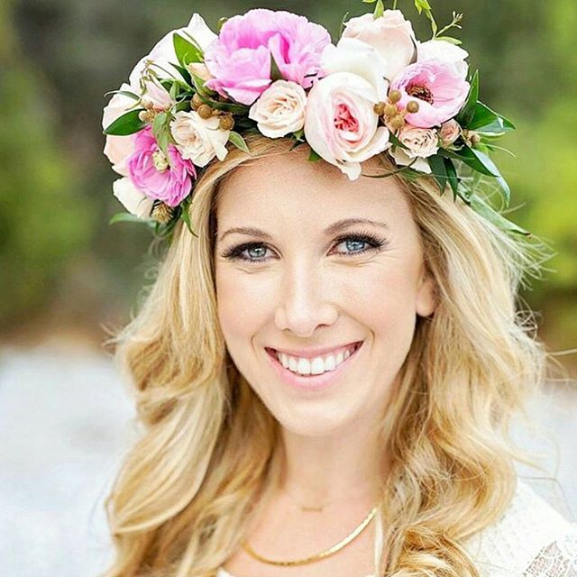 Such a beauty !! loved making this crown for an Engagement shoot . . . . . . . #rebellefleurseventdesign  #flowercrown  #halo  #thehaloexperience  #coachella  #livewildflowerchild