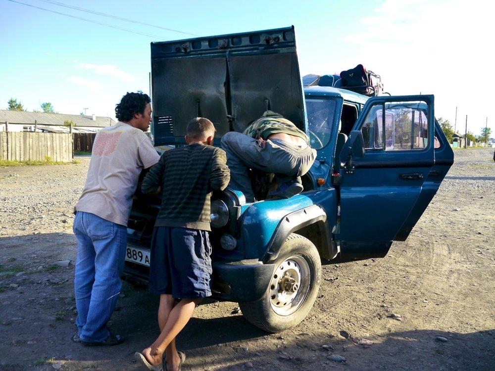 engine troubles in kyzyl-mazhalyk