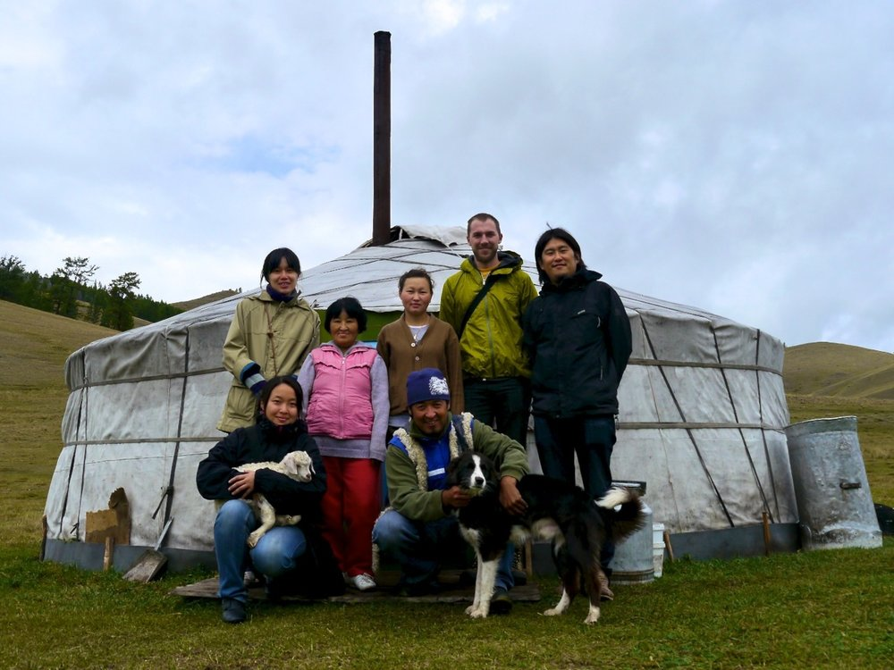 zhenia's and his mother's yurt