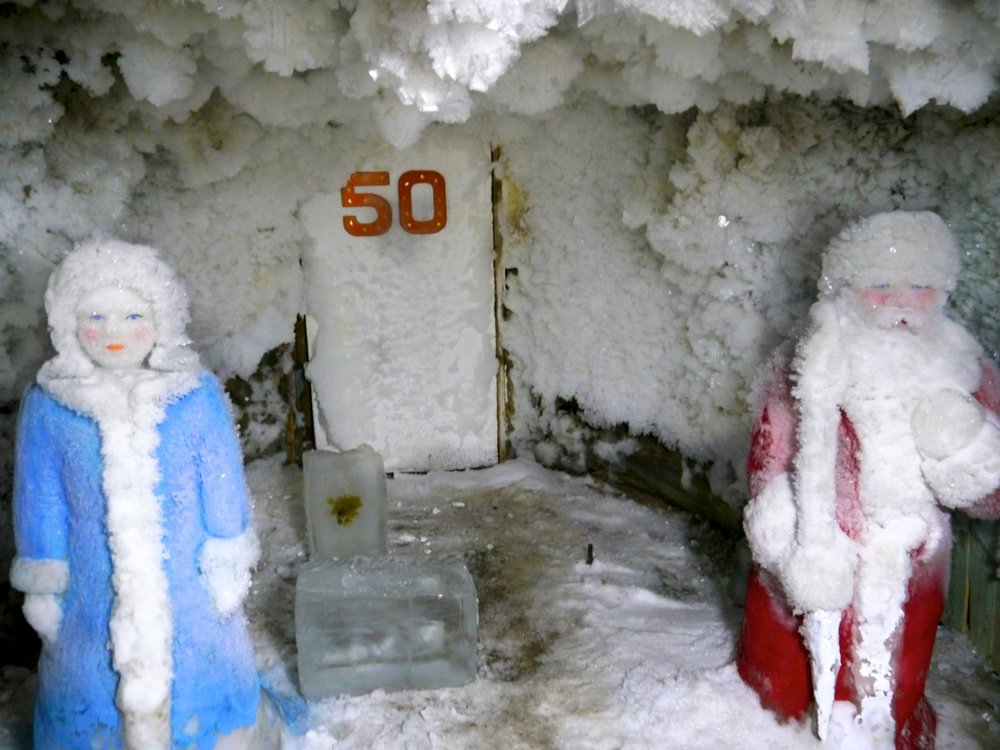ded moroz and snegyrochka 12 meters below yakutia at the permafrost institute
