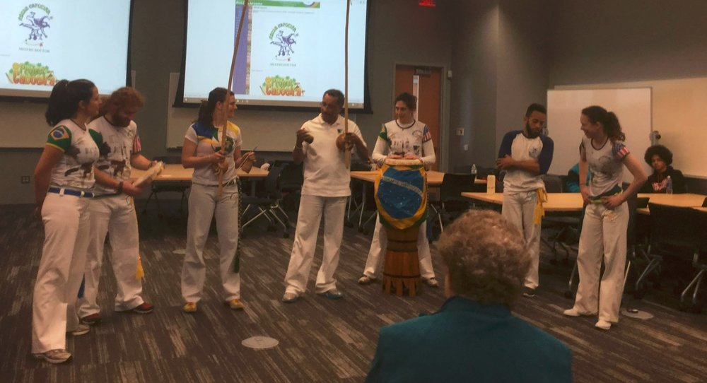 Capoeira demonstration during a panel on community-based approaches to celebrating Latin American culture in Philadelphia.