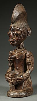 Yoruba Female Bowl Figure