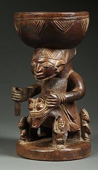 Yoruba Rider Bowl Figure