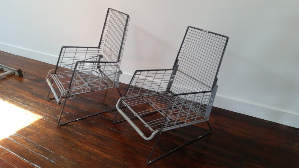 Shopping cart chairs. Comissioned by an art gallery in Philadelphia.