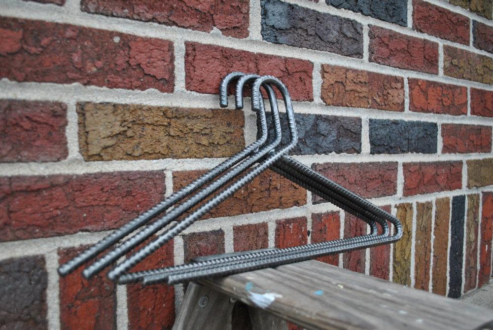 Custom designed rebar hangers.
