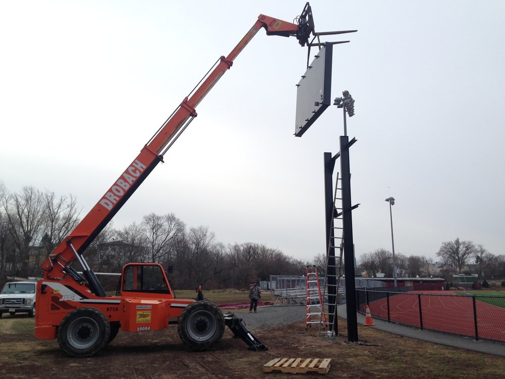 LED Sign Board Fabrication and Install. Foley Field, NJ
