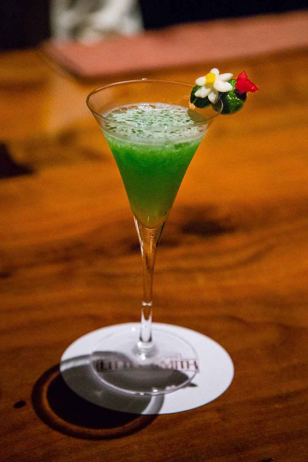 Matcha and yuzu cocktail, winner one year for best original cocktail in Japan