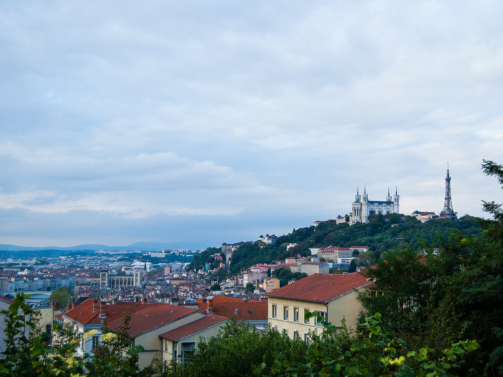 Lyon France Cityscape Notre Dame