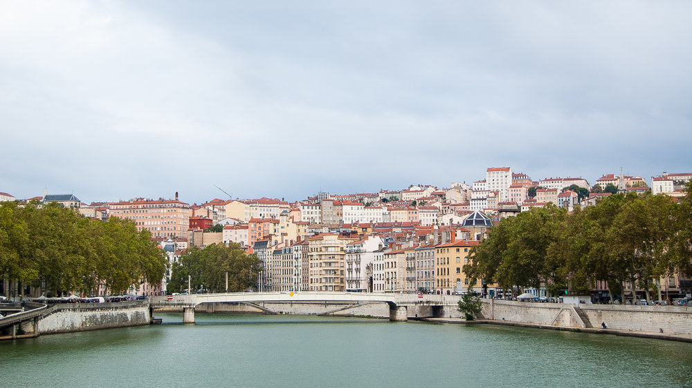 Lyon France Saone River Cityscape