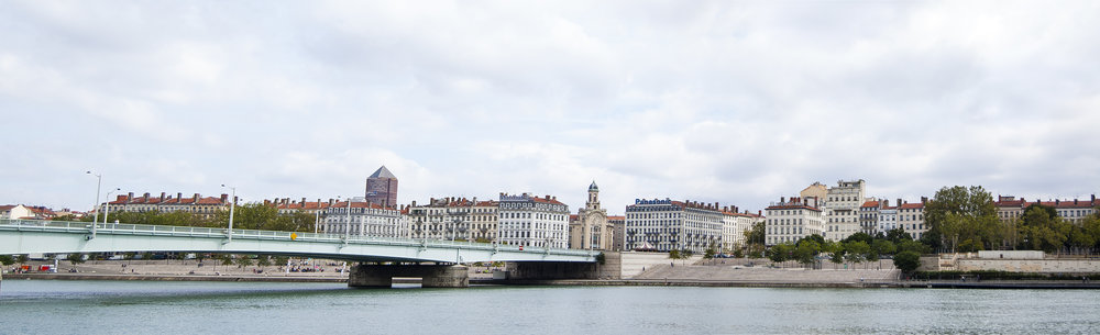 Lyon France Cityscape Rhone River